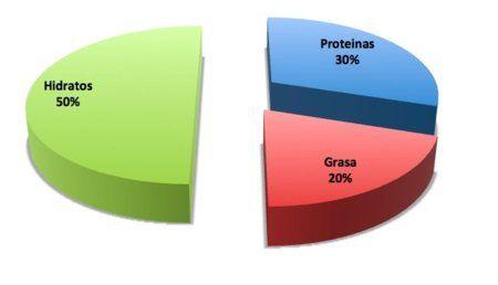 proporcion macronutrientes