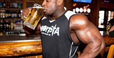 alcohol ganancias musculo
