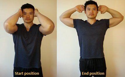 ejercicios hombros adelantados