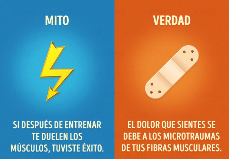 mitos del gym no pain no gain